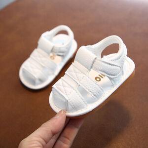 Girls Boys Trainner Close Sandal Baby Toddler Squeaky Walk Running Shoes