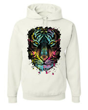 Neon Tiger Hoodie Multicolor Dripping Sweatshirt