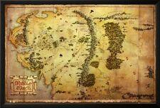 The Hobbit-Map Lamina Framed Poster Print - 38x26
