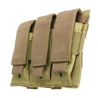 VISM Triple Pistol Magazine Pouch MOLLE Tactical Duty Gear Hunting COYO TAN~
