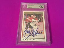 Ron Hextall Flyers 1991-92 OPC Premier Signed Auto Beckett SLABBED BAS