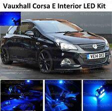 PREMIUM BLUE Vauxhall Corsa E Xenon Full Interior LED Lights Upgrade Kit VXR