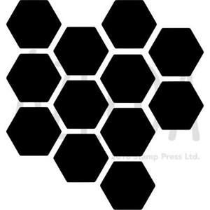 'Honeycomb Pattern' Wall Stencils / Templates (WS014769)