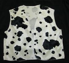 Black White Cow Print Cowboy Cowgirl Waistcoat Woody Fancy Dress S M L Adult 90s