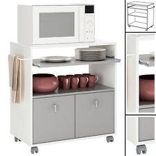 Küchenwagen Küchentrolley ONYX 716 weiß Holz Rollwagen Küchenschrank Küchenregal