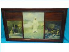 Wood Frame c. 1919 w/ W. L. Taylor Arabesque Motif Print *Rudolph Valentino Era