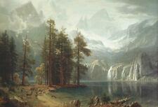 Sierra Nevada by Albert Bierstadt Art Poster Landscape Poster 16x20