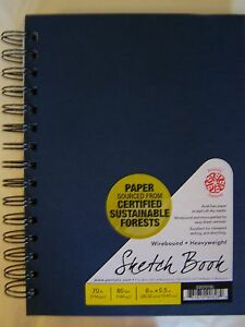 "Pentalic Cloth Covered Wire Bound Sketch Book 8""x5.5"" PTL-020701"