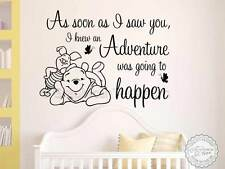 Winnie The Pooh Guardería Pegatinas De Pared Cotización, tan pronto como vi, aventura suceder