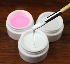 3 Colors Nail Art Primer Base UV Gel Top Coat Builder Tips Kit White/Clear/Pink