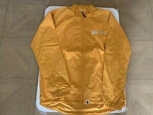 AUTHENTIC A BATHING APE BAPE CYCLING JACKET YELLOW XL NEW SALE
