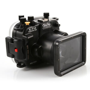 40m/130ft Waterproof Dive Underwater Housing Case Fr Fujifilm Fuji X-T10 Camera