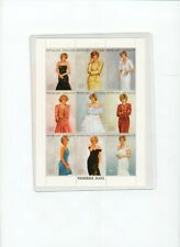 Princess Diana Royal Gowns Plate Block of 9 Stamps with COA.