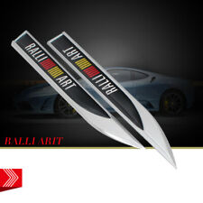 Car Emblem Fender Badge Knife Decal Stickers For Mitsubishi RALLIART Accessories