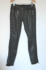 "*STUNNING* AllSaints Ladies LAURELLA SKINNY Leather Pant / Trousers 26"" UK8 US4"