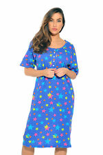 Just Love Short Sleeve Nightgown Sleep Dress Women Multi Stars 3x Plus