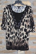 APPOINTMENTS BRAND~ LAYERED LOOK SHIRT~ SIZE 1X~ TANS AND BLACK