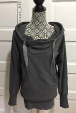 LULULEMON Flashback Pullover Hoodie 4 Heathered Gray Sweatshirt Thumbholes $108