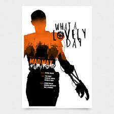 Mad Max Fury Road Signed Alternative Movie Print Poster NT Mondo