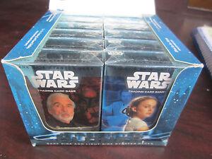STAR WARS TCG Attack Of The Clones vending box of 12 STARTER DECKS NEW Sealed
