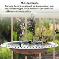 Outdoor Solar Powered Floating Bird Bath Water Fountain Set Pump Garden Pool
