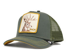 "Goorin Bros. Animal Farm Trucker Snapback Hat Cap Olive/""Rack"""