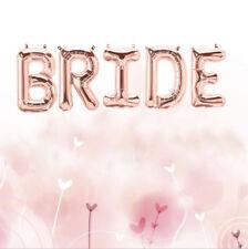 "BRIDE Rose Gold Foil Balloons Hen Do Party Bridal Shower Banner Letter Decor 16"""