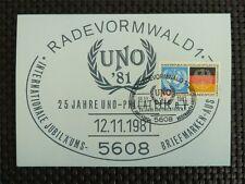 Federale MK 1981 ONU Nazioni Unite 1973 scheda maximum carte MAXIMUM CARD MC cm c5203