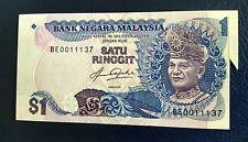 Error MALAYSIA 5TH RM1  Extra Paper Error ~UNC