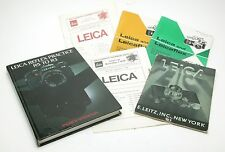 Vintage 6 Leica Books & Booklets With Tons Of Useful Info. All Good.