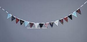 Mandala Cotton Bunting Handmade Triangle Wall Hanging Indian Decor Garlands Flag