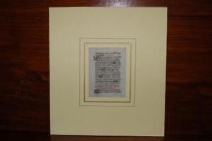 Foglio originale manocritto su pergamena Libro D'ore Francia,