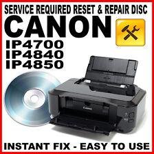 Canon Pixma iP4700 iP4840 iP4850  - Fault Reset Disc Service Repair Fix