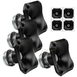 """4 Audiopipe 4.5"""" Wide High Frequency Horn 100 Watt Aluminum Tweeter 1-3/8 Thread"""