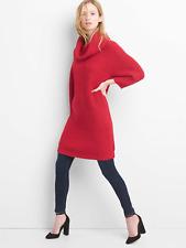 Gap Cozy knit cowlneck dress, red apple Sz S