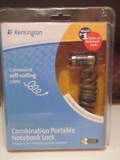kENSINGTON ComboSaver Self Coiling Combination Portable Notebook Lock Security