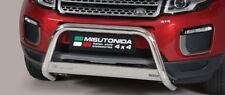 Misutonida 4x4 front bumper bar Round profile stainless (inox) steel plate