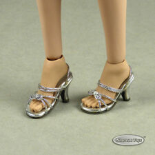 1/6 Phicen, TB League, Hot Toys, Cy & NT - Sexy Female Silver Strap Heels Shoes