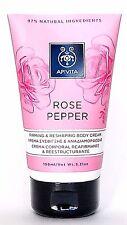 APIVITA ROSE PEPPER Firming & Reshaping Natural Body Cream 150ml