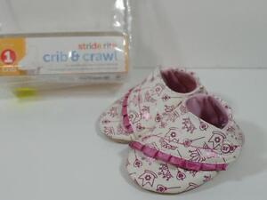 New Girl's Stride Rite Royal Ruffles Princess Crib & Crawl Shoes Step 1, Sz 3-6M