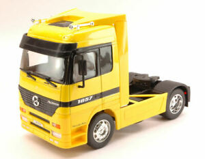 Model Truck Welly Mercedes Actros Yellow Scale 1:3 2 diecast Lorry