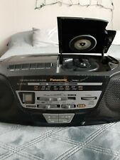Panasonic Rx-Ds11 Boombox Cd/Cassette/ Am& Fm Radio Tested & Working Black
