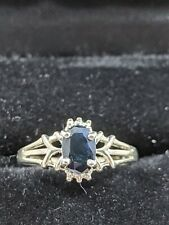 Avon Sterling Silver Sapphire Ring Size 6