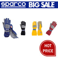 FIA 1986 Sparco Fast-Tech gloves Nomex Suede Leather size 8 Red Grey Yellow