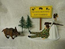Wedding Party Reception ~Hog Boar~ Redneck Camo Hunter Hunting Cake Topper
