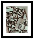 NEW YORK  STATUE OF LIBERTY WALL ART BLACK FRAMED PRINT LADY LIBERTY CUBIST ART
