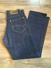 Vintage 1970S Denim Lee Riders Jeans Black Tag Size 27 X 28 1/2