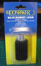 MOONRAKER 15 Watt 50 Ohm Dummy Load PL259 15w 0-800 CB Amateur HF 2m 70cm