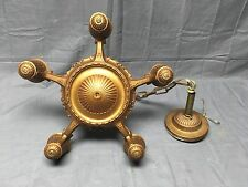 Antique Victorian Cast Iron Chandelier Old Vtg Ceiling Light Fixture 234-17E