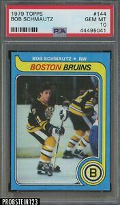 1979 Topps Hockey #144 Bob Schmautz Boston Bruins PSA 10 GEM MINT